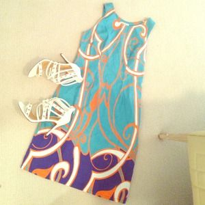 merona Dresses & Skirts - Colorful Shift dress Sz. 4