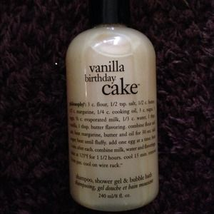 SOLD Philosophy Vanilla Birthday Cake Shampoo
