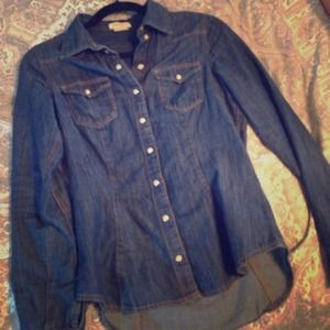 H&M Tops - H&m denim button down