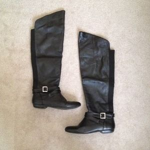 Chinese Laundry Knee High Nostalgia Black Boots