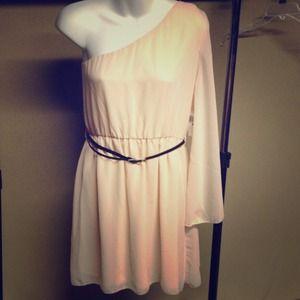 Ali&Kris chiffon 1-shoulder dress