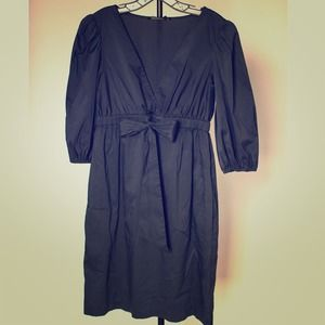 BCBGMaxAzria Dresses & Skirts - Navy BCBGMaxAzria Full Sleeve Bow Sundress