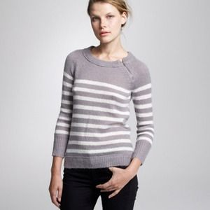 J. Crew Sweaters - Like NEW: J. Crew, CHALET STRIPE ZIP SWEATER