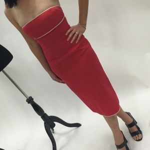 Narciso Rodriguez Dresses & Skirts - Narciso Rodriguez Collection Strapless Red Dress