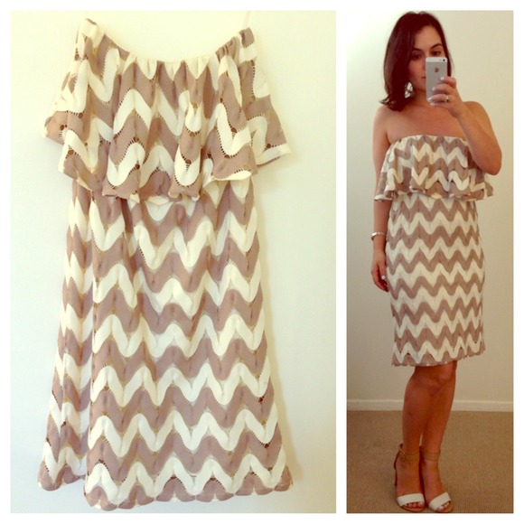 Judith March Dresses & Skirts - Judith March Chevron Dress