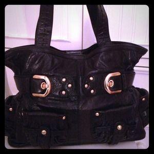 Black Leather Isabella Fiore Tote
