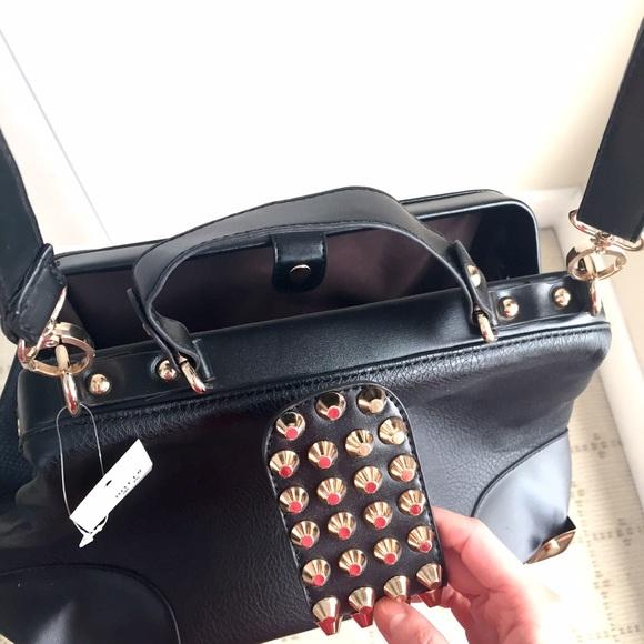 Romwe Bags - NEW* black statement bag w gold studs