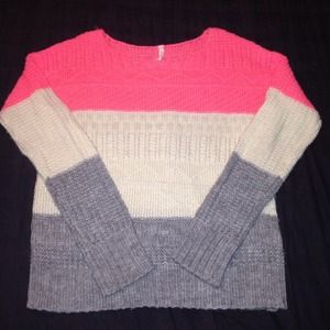 Willow & Clay colorblock knit sweater