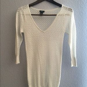 RUE 21 White Sparkle Sweater S