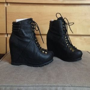 Jeffrey Campbell wedge combat boots