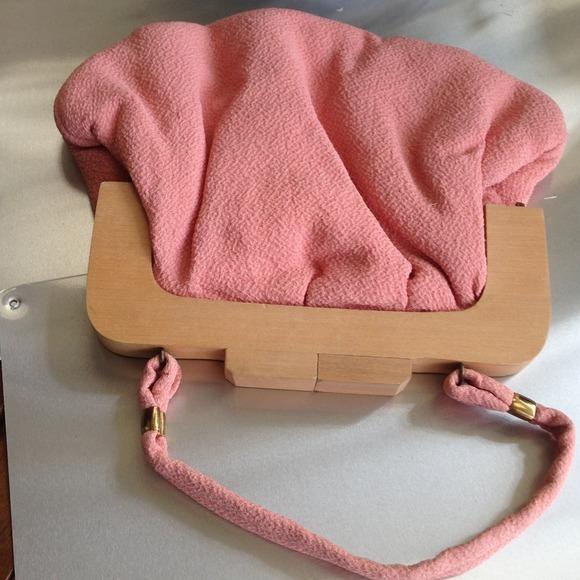 Vintage small cloth handbag 1960s