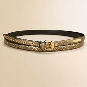Burberry Accessories - 🎉HOST PICK🎉BURBERRY wrap belt in gold leather
