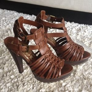 Leather Topshop/Office High-heeled Sandals