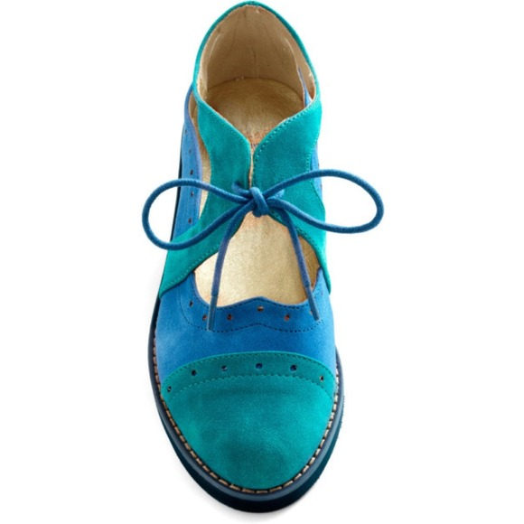Cornflower Blue Flat Shoes