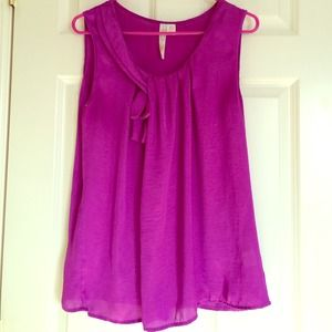 Tops - Magenta Sleeveless Top