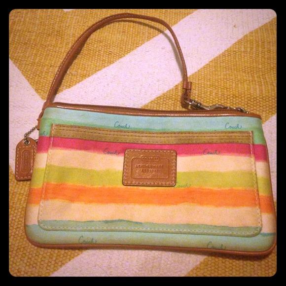d5b996e8f9 Coach Bags | Adorable Rainbow Wristlet | Poshmark