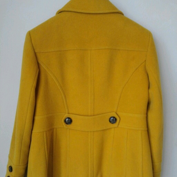 75% off Outerwear - SOLD GARAGE SALE Mustard Yellow Pea Coat from