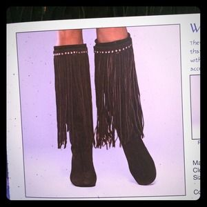 Boots - Fringe Suede Boot Wraps