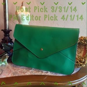 PM Editor Pick-Dark Green Envelope Clutch