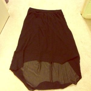 Black hi-lo skirt