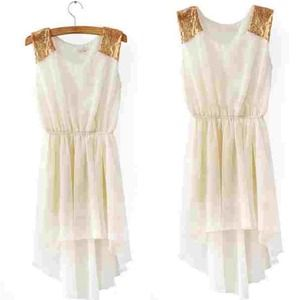 Dresses & Skirts - 🚫SOLD🚫Cream High Low Chiffon Dress