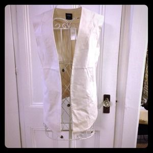 Kate spade Saturday off white coated vest