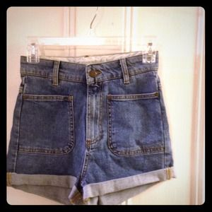 Vintage inspired high waist shorts