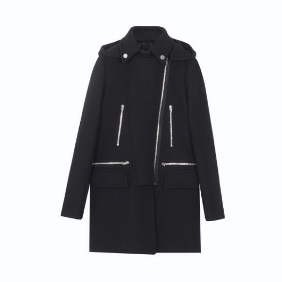 Zara - Zara Black Zip Coat from Claudia's closet on Poshmark