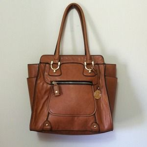 London Fog Tan Handbag Purse