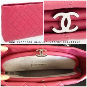 Chanel Quilted Clutch in Pink