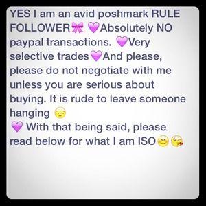 Other - Hello ladies! PLEASE READ!💜