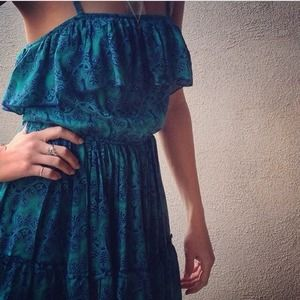 Dresses & Skirts - Ruffle babe blues dress SALE