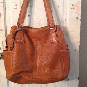 Brown leather Fossil shoulder bag/purse