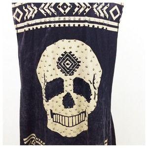 Vocal Tops - ❗️SALE❗️VOCAL: Black Stone Wash Skull Vest