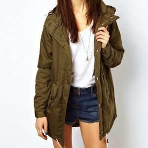 ASOS Padded Parka With Suede Elbow Patches