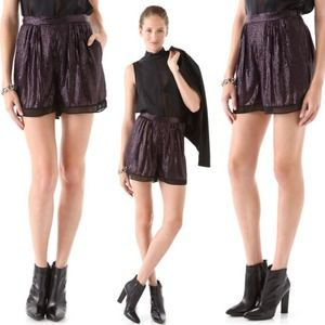 ⚡️DVF Plum Sandra Sequin Shorts