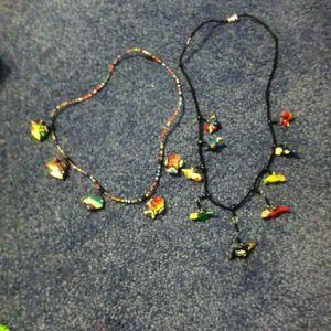 Jewelry - Handmade fish and bird necklaces