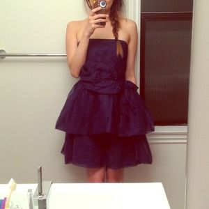 Zara Dresses & Skirts - Zara navy blue dress!