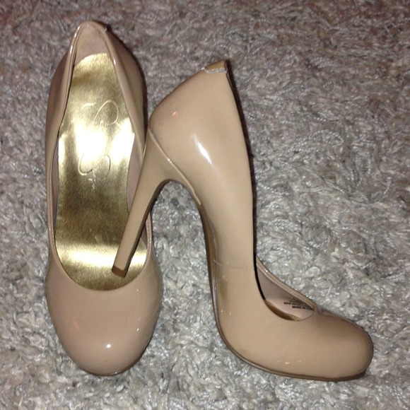 f55f2b458b8 Jessica Simpson Shoes - Jessica Simpson Calie Pumps - Nude Patent