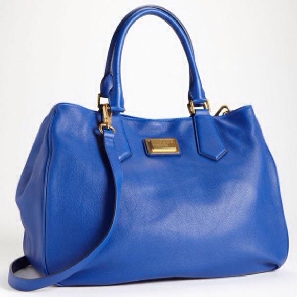 🎉HP 04 07🎉MbMJ Bauhaus Blue Large Leather Tote 60e6be6e9b921