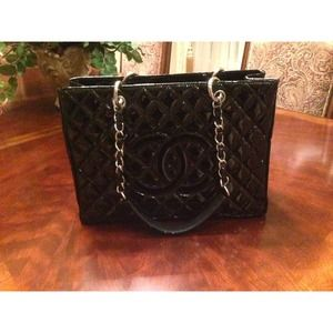 Authentic Patent Chanel GST (Grand Shopping Tote)