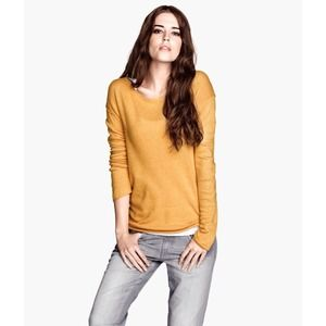 H&M Mustard Knit Sweater