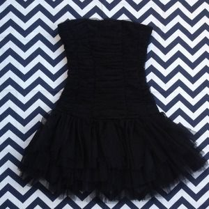 Kaitlin Dresses & Skirts - Black Strapless Party Dress