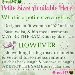 Other - **Petite Sizes** Available Here!