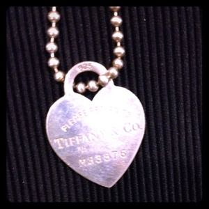 Tiffany & Co. Tag Heart Chain Necklace