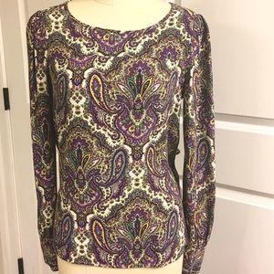 Beautiful Jcrew paisley shirt
