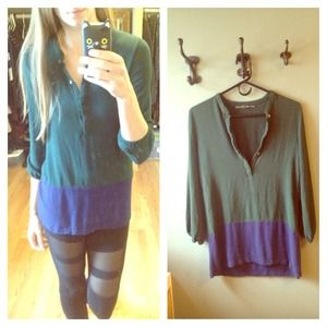 Zara Tops - Zara color block !