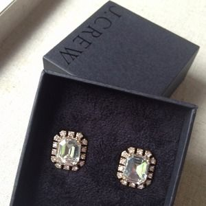 J. Crew Jewelry - J crew octagon gem earrings