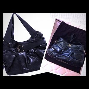 Authentic Kooba Black Shoulder Tote