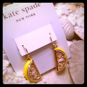 kate spade Lemon drop Earrings